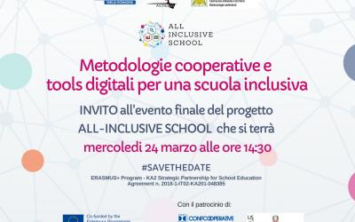 """Evento finale: """"Metodologie cooperative e tools digitali per una scuola inclusiva"""""""